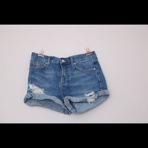 Jean shorts by topshop